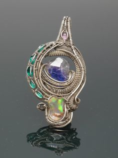 Regalia: Heady Wire Wrap Pendant by OreganickJewelry on Etsy
