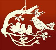 Kağıt sanatı Kirigami, Paper Cutting Patterns, Diy And Crafts, Paper Crafts, Lampe Decoration, Creation Art, Laser Art, Wood Burning Patterns, Paper Birds