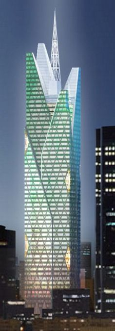 Generali Tower (Tour Generali), La Defense, Paris by Valode ąnd Pistre Architects :: 50 floors, height 264m