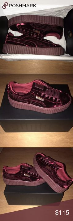 Puma Rihanna Fenty Velvet Creepers Purple Burgundy BRAND NEW, DEADSTOCK, 1000% AUTHENTIC & Did I mention BRAND NEW ? 😂 Lol but no payment thru POSH ...................... T E X T me for more pics or to continue payment‼️ 4 7 0 2 5 0 1 3 8 8 ... Price is highly negotiable if you buy today Jordan Shoes Athletic Shoes