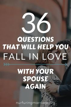 36 Questions That Will Help You Fall in Love With Your Spouse Again - so dreamy and romantic! Get the best tips and how to have strong marriage/relationship here: Marriage Help, Healthy Marriage, Happy Marriage, Love And Marriage, Successful Marriage, Fixing Marriage, Marriage Games, Funny Marriage Advice, Strong Marriage
