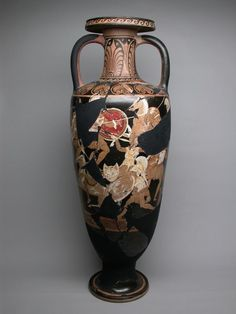 Greek, Italy, Campania Attributed to the Ixion Painter  Amphora (Storage Jar), Late 4th century B.C.  Terracotta, red-figure technique