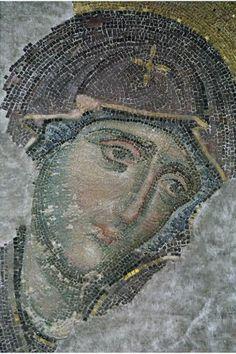 Byzantine mosaic of Mary - HAGIA SOPHIA,  CONSTANTINOPOLE (Istanbul, Turkey)