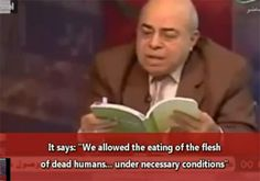 Syrian Muslims infected with Kuru, a disease of cannibals - allowed in certain conditions for islamists