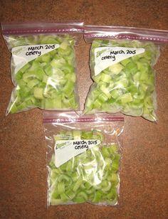 How to Freeze Celery
