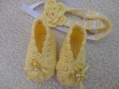 Baby foot wear and headband