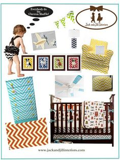 Chevron design for kid's rooms and nurseries by the ThePrincessAndThePropMaker.com