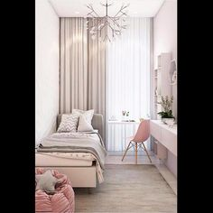 57 Modern Small Bedroom Design Ideas For Home JV-Zimmer Small Apartment Bedrooms, Small Room Bedroom, Kids Bedroom, Girl Bedrooms, Master Bedroom, Bedroom Bed, Bedroom Furniture, Very Small Bedroom, Small Room Interior