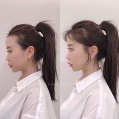 Redhead Hairstyles, Plaits Hairstyles, Korean Hairstyles Women, Japanese Hairstyles, Asian Hairstyles, Men Hairstyles, Shot Hair Styles, Curly Hair Styles, Korean Hair Color