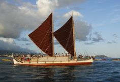 Built in 1975 for a one-time voyage from Hawaii to Tahiti, the Hōkūle'a is a replica of an ancient Polynesian voyaging canoe. She was originally built to prove once and for all that Polynesians settled the Pacific islands through intentional voyaging, and to restore for modern Native Hawaiians the foundational object of their traditional culture—the voyaging canoe. To her people, she is the physical embodiment of a legend that has reappeared on Earth for the first time in 600 years.