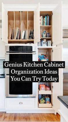 Kitchen Cabinet Organization, Kitchen Shelves, Kitchen Pantry, Kitchen Storage, Kitchen Cabinets, Used Cabinets, Kitchen Magic, Cabinet Hardware, Kitchen Styling