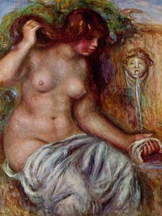 Renoir, Pierre-Auguste: Frau am Brunnen - Gemeinfrei