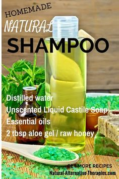 Homemade natural shampoo recipe + 10 more fabulous homemade natural hair products