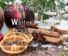 CHRISTMAS TREE REPLACE? This aromatic spicy accord opens with citrus orange and lemon, followed by rich, warm cinnamon and clove with hints of floral jasmine, resting on a base of woods and musk