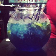 The famous fish bowl drink