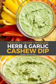 Paleo Dip Recipe, Vegan Cheese Recipes, Vegan Sauces, Dip Recipes, Sauce Recipes, Paleo Recipes, Healthy Herbs, Healthy Side Dishes, Healthy Snacks