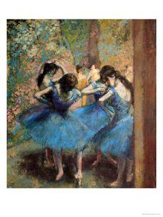 degas ..dancers in blue