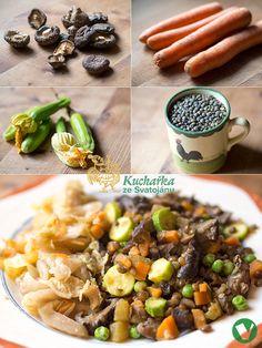 Kuchařka ze Svatojánu: Luštěniny a obiloviny Beans, Chicken, Vegetables, Food, Essen, Vegetable Recipes, Meals, Yemek, Beans Recipes