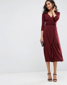 ASOS | ASOS Wrap Maxi Dress in Jersey Crepe