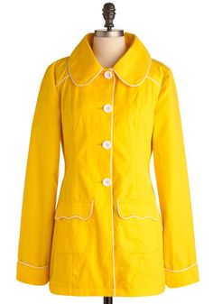 Yellow-So-Cute Coat. You may think  you know what adorable is, but when you see this lightweight Tulle Clothing coat featured on Oprah.com, youll have to adjust your definition of darling.  #modcloth