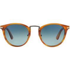 Persol PO3108S 49 Sunglasses (1.415 BRL) ❤ liked on Polyvore featuring accessories, eyewear, sunglasses, glasses, shades, rounded sunglasses, persol, lens glasses, round lens glasses and persol sunglasses