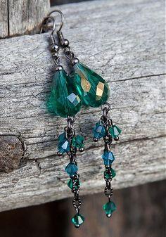 Smaragdové vodopády by gabi111 - SAShE.sk - Handmade Náušnice