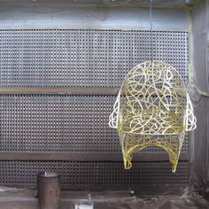 Work in progress! Radici #chair brass finish. #decastelli #brass #chair #lasercut #gold by decastelli_official