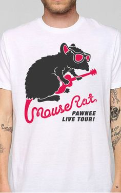 MOUSE RAT Parks and Recreation T-SHIRT