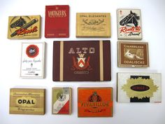 old cigarette packaging from Paris flea market