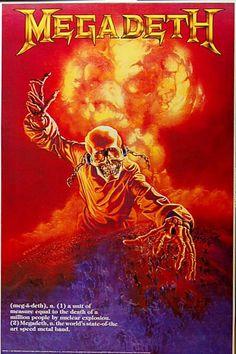 Megadeth Metal Band Poster Fridge Magnet Size x Rock Posters, Band Posters, Concert Posters, Music Posters, Heavy Metal Rock, Heavy Metal Bands, Power Metal, Megadeth Poster, Woodstock