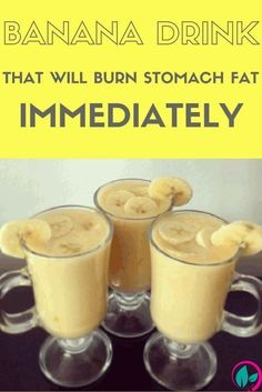 Banana Drink That Will Burn Stomach Fat Immediately - NZ Holistic Health Weight Loss Drinks, Weight Loss Smoothies, Healthy Smoothies, Healthy Drinks, Healthy Tips, Healthy Detox, Easy Detox, Nutrition Drinks, Healthy Food