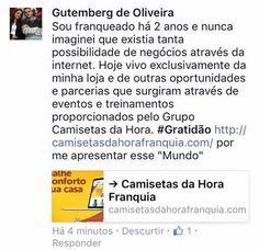 Franqueado+Gutemberg+:+Fale+com+o+Gutemberg+de+Oliveira  #camisetasdahora+#franchise+#camiseta#camisetas+#franquia+#franquias+#sebrae+ +camisetasdahora