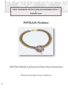 PAVILLIA Necklace Beadwork Exclusively PDF Beading by bead4me