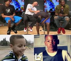 "Kevin Durant tells a hilarious story about meeting this ""white kid"" named Stephen Curry 15 years ago at an AAU event.   Click here to watch the LOL Video: http://bit.ly/1oUAhrl"