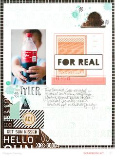 #Papercraft #Scrapbook #Layout.  For Real scrapbooking layout