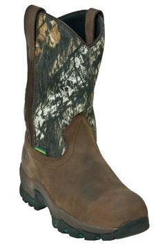 Men's John Deere Work Boots Waterproof Composite Toe Pull On Leather Wide (EE) Brown JD4638 John Deere. $149.99. leather