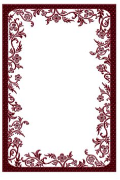 Large Red Transparent Frame