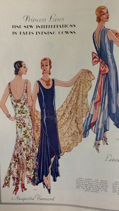Page from McCall's Summer 1929 catalog   McCall 5644 by Augusta Bernard