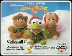27 Photos That'll Give Any Kid Warm And Fuzzies Memories About Christmastime , Making your parents take you to McDonald's so that you could get the holiday edition Muppet Babies stuffed animals. 27 Photos That'll Give Any Ki Muppet Babies, 90s Childhood, My Childhood Memories, Best Memories, Christmas Baby, Christmas Carol, 1980s Christmas, Christmas Outfits, Christmas Stuff