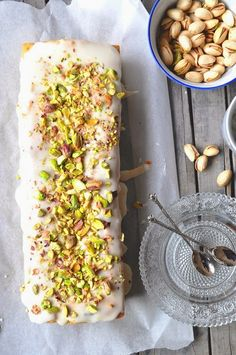 Pistachio pound cake