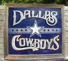 Dallas Cowboys Sign original  hand painted by ZekesAntiqueSigns, $145.00 - GOTTA HAVE THIS!