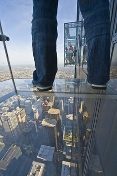 The view from Skydeck Chicago's Ledges on the 103rd floor of the Willis - formerly Sears - Tower! www.discoveramerica.com