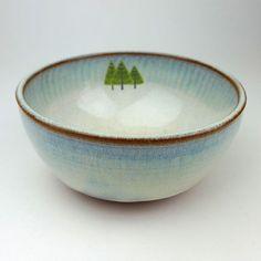 Pine Trees Bowl by JuliaSmithCeramics on Etsy, £18.00