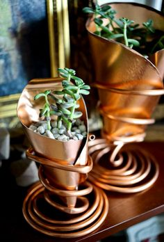 Copper Cone Planter DIY / Crafted in Carhartt