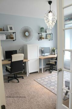 A family office and Guest Room in One! - My Mommy Style family office and guest room, IKEA, mymommys Home Office Space, Home Office Design, Home Office Furniture, Home Office Decor, Office Ideas, Office Playroom, Office Designs, Office Style, Furniture Ideas