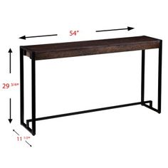 The versatile Holly & Martin Macen Console Table adds a touch of industrial chic style to your entryway, hallway, or behind the sofa. Industrial Chic Style, Wood Buffet, Wood Veneer, Engineered Wood, Console Table, Black Metal, Sideboard, Sofa, Skinny