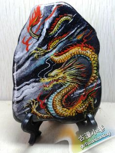 Dragon - OK, so someone is WAY more skilled than I am at painting rocks!!!!