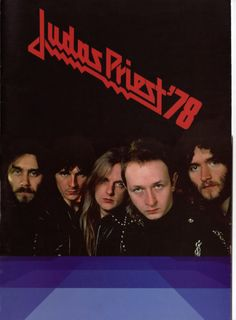Judas Priest, frontpage of tour programme 1978  Ian Hill, Glenn Tipton, K.K. Downing, Robert Halford and Les Binks