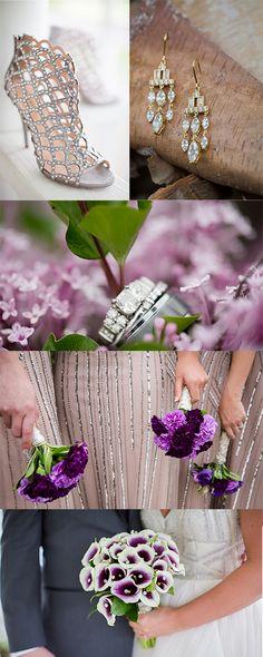 Glamorous Wedding with purple