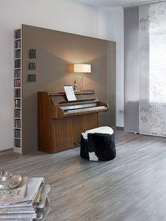 Stimulierend und kreativ wirkt Macchiato im Klavierzimmer – da bekommt man Lust aufs Zuhören.